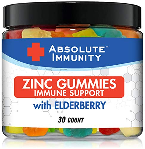 Absolute Immunity- ZINC and Elderberry Gummies - Immune System Health - Adults and Kids 30ct