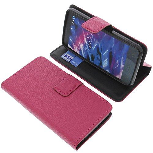 foto-kontor Tasche für MEDION Life E4504 Book Style pink Schutz Hülle Buch