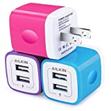 USB Wall Charger, Charger Adapter, Ailkin 3-Pack 2.1Amp...