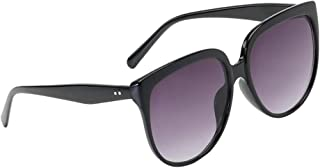 IPOTCH Womens Designer Celebrity Mirrored Flat Lens Retro Vintage Oversized Sunglasses