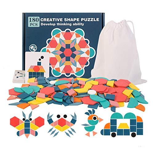 Vqxrhf A180 Rompecabezas Creativo de Madera, par de niños, Juego de Bricolaje, niña, Juguetes de Madera, Puzzle Interactivo para Padres e Hijos, 3 años