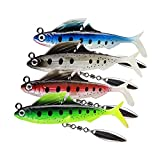 GLL Soft Plastic Swimbaits with Rotating...