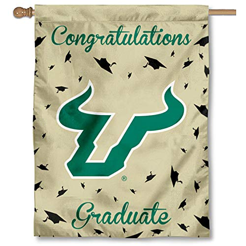College Flags & Banners Co. South Florida Bulls Graduation Gift Banner Flag