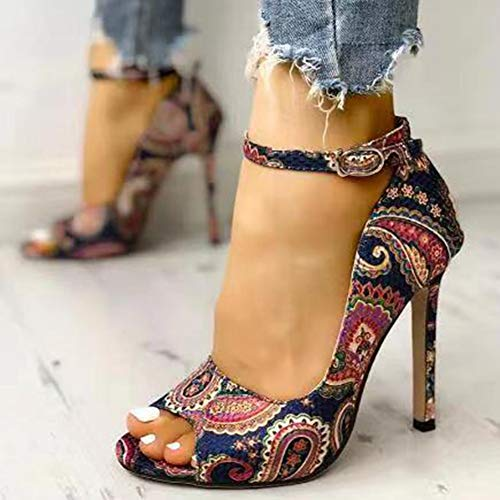 VFVFB Sandali con Tacco da Donna, Sandali con Tacco Alto Senza Lacci da Donna, Sandali con Tacco a Spillo e Cinturino alla Caviglia da Donna, Scarpe da Ballo Aperte da Donna41