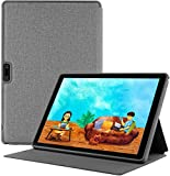 Tablet Case is fit for 10 inch Tablets, Multi-Angle Viewing Shock Proof Lightweight Leather Smart Protective Shell Stand Cover Fit Tabtrust 10 Inch 3G Tablet Only