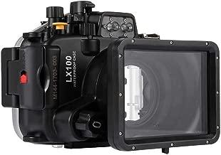 Basde Underwater Camera Housing, PULUZ 40m Underwater Swimming Diving Waterproof Camera Case for LUMIX DMC-LX10