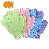 Gants d'exfoliation Asienntiques - 4 paires de gommage complet - Accessoire exfoliant pour douche ou baignoire
