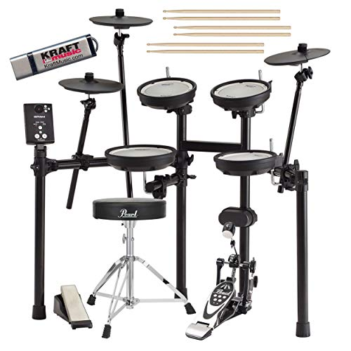 Roland TD-1DMK V-Drums Electronic Drum Set with Throne Pedal Stick Flash Drive