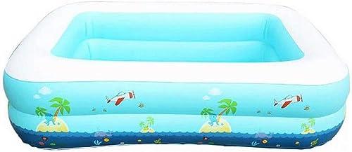 Aufblasbares Schwimmbad PVC 115   120cm aufblasbares Schwimmbecken mit aufblasbarem Boden (Größe   115  83  33cm)