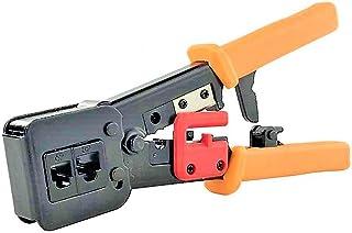 LATERN RJ45 krimpverktyg, 6P/8P nätverkskabel krimpverktyg för RJ11/RJ12 nätverks- och telefonkablar EZ genomströmnings- o...