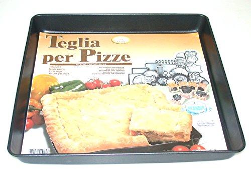 Vespa Srl 250 Teglia Quadrata per Pizze, Alluminio Antiaderente, Antracite