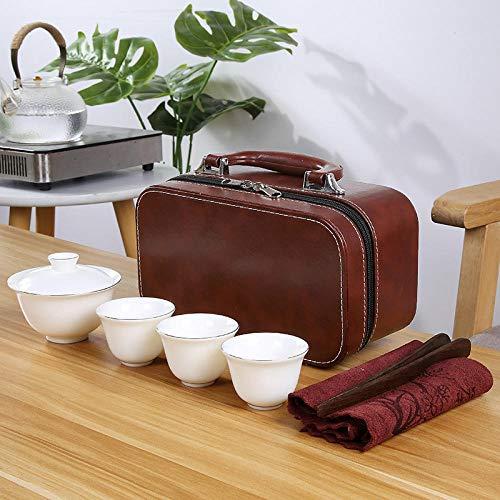 Juego de té, taza de té, juego de viaje de porcelana blanca, tienda física, promoción comercial, regalo de apertura, regalo, juego de té personalizable-Juego de té Style Seven / Gaiwan (Paquete C)