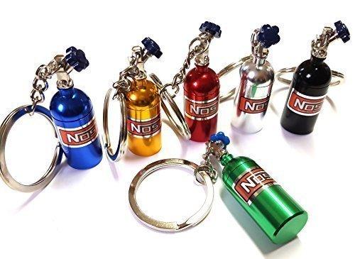 1x NOS Power óxido Nitroso Botella Inyección Llavero fabricado en aluminio in 6 Colores Llave AUTOMÓVIL G60 G40 VR6 16V nitroso óxido botella con abnehmbarnen Cubierta NITRO Impulsor Turbo Tuning Colgante ca 10,0 Largo & 1,6 Ancho - Azul, aprox. 10,0 cm Long & aprox. 1,6 cm ancho