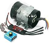 Supercargador eléctrico para coche tipo Y, 5 cables, 380 W, ventilador de entrada turbo de 12 V 16,5 A