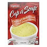Lipton Cup-a-Soup Instant Soup For a Warm Cup of Soup Cream of Chicken Only 60 Calories Per Serving...