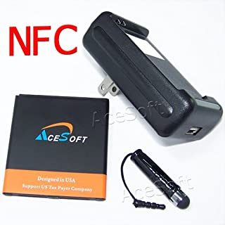 High Capacity 3500mAh Standard NFC Battery with Specialized Intelligent USB Travel Charger Stylus for AT&T Samsung Galaxy J3 J320A Phone