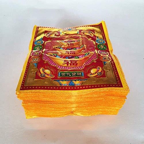 XUETT Joss Paper Hell Bank Notes Suministros De Sacrificio Gran Denominación Yellow Paper Hell Bank Notes For Funerals