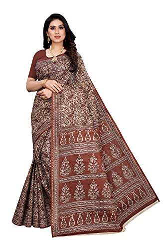 ANNI DESIGNER Women's Pure Cotton Printed Saree
