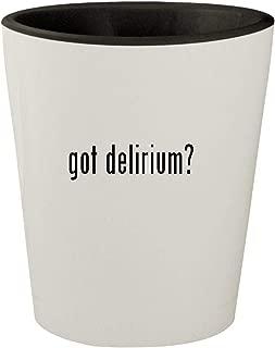 got delirium? - White Outer & Black Inner Ceramic 1.5oz Shot Glass