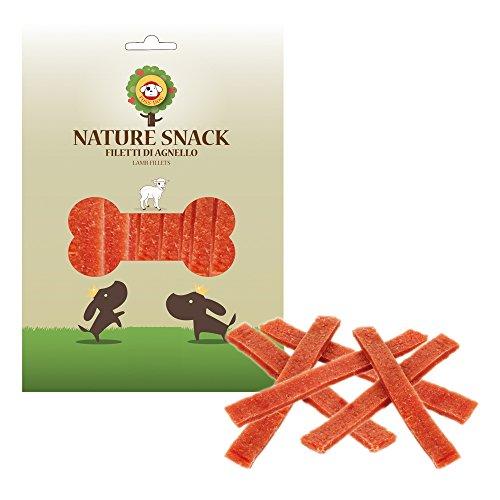 Ferribiella Nature Snack per Cani Filetti di Agnello 80 Grammi