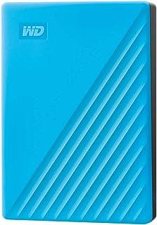 Western Digital WD 2 TB My Passport disco duro portátil con protección con contraseña y software de copia de seguridad automática, Compatible con PC, Xbox y PS4, color Azul