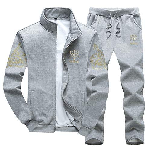 WYX Herren Set Fashion Sportanzug Sweatshirt + Jogginghose Herren Bekleidung Slim Male Trainingsanzug,b,L