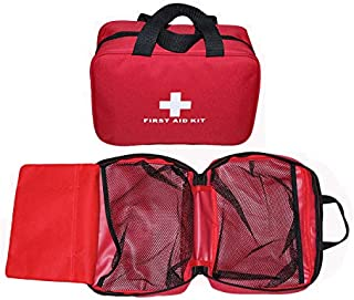 MTGHYAYA Small First Aid Kit Bag Empty, First Aid Bag Pouch Compact Survival Medicine Bag for Home Office Car Businesses Camping(Empty Bag)