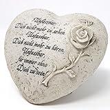 Herz Grabdekoration mit Spruch und Rose. Unfassbar. 15cm. 1 Stück