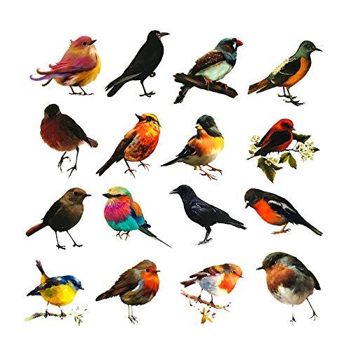 BLOUR 40 unids/Pack Vintage pájaro Cuervo Golondrina Pegatina de Fruta DIY artesanía álbum de Recortes Diario Basura planificador Feliz Pegatinas Decorativas