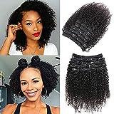 Extensions de cheveux humains à clips ondulés ondulés ondulés - 10 pièces - Tête complète à clipser - 25,4 cm