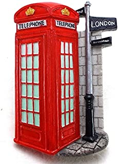 Telephone Booth, London Souvenir Fridge Magnet Toy Set 3D Resin Collection