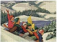 マウンテンパズル500ピース木製大人ジグソーパズルカラー抽象的な絵画パズル子供のための新しいヴィンテージクリスマス子供たち教育玩具ギフト