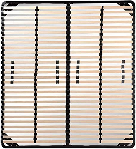 Moments of Glass Somier Negro multiláminas con reguladores lumbares (SIN Patas) Metalizado anticorrosion Varias Medidas (180x200)
