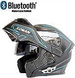 Bluetooth Helmet Motorcycle Crash Helmet Modular Helmet D.o.t Safety Standard Automatic Response Mp3