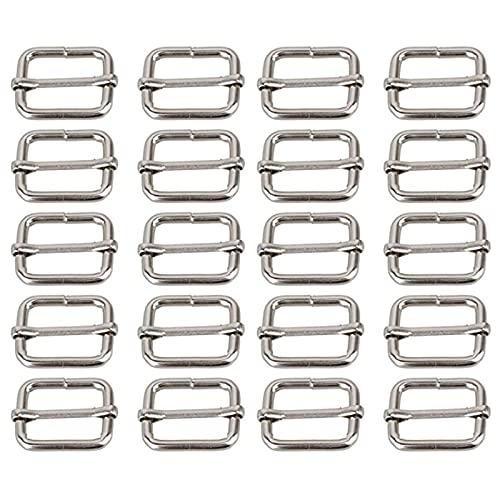 40 Unidades Metal Hebilla de Mochila, Hebilla de Mochila, Deslizador de Ajuste de Metal, Se utiliza para ajustar las correas de bolsos y mochilas