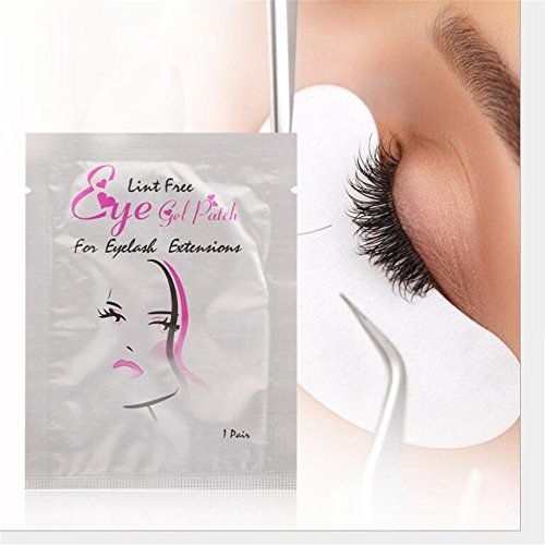 200 Pairs Set,Eye Gel Patches,Under Eye Pads Lint Free Lash Extension Eye Gel Patches for Eyelash Extension Eye Mask Beauty Tool (200)