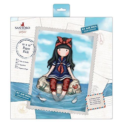 SANTORO Docrafts Single-Sided Paper Pack 12X12 32/Pkg Gorjuss Postal, 32 Designs/1Ea