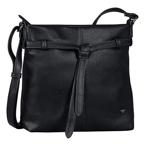 TOM TAILOR bags LINA Damen Umhängetasche M, black, 27,5x5,5x25