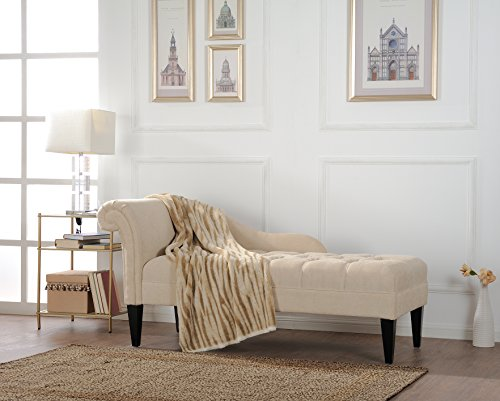 Jennifer Taylor Home Harrison Chaise Lounge, Beige