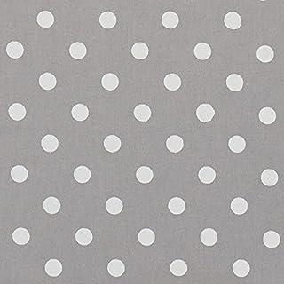 Vinylla - Mantel de algodón con revestimiento de vinilo, fácil de limpiar, hule plateado con lunares, 140 x 180 cm