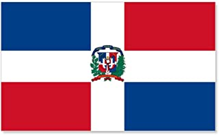 CafePress Dominican Flag 20x12 Wall Decal, Vinyl Wall Peel, Reusable Wall Cling