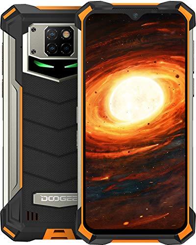 Telefono Móvil Libre, DOOGEE S88 Pro Android 10 Smartphone 4G, Batería 10000mAh 6GB + 128GB, Cámara Triples 21MP+Cámara Frontal 16MP, 6.3 FHD+Pulgada IP68 IP69K Móvil Resistente, LED NFC GPS, Naranja