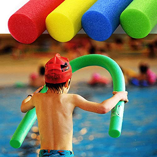 Washranp Frites de piscine creuses en mousse pour débutants et enfants - 6 cm - Vert