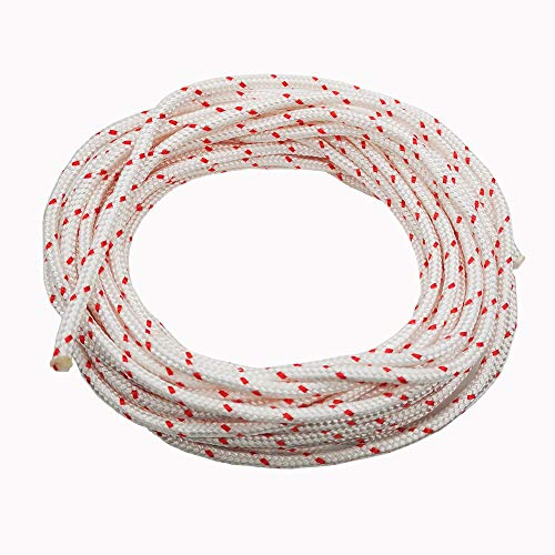 ZLKSKER Recoil Starter Rope 10 Meter Diameter 5.0mm, Engine Starter Rope, Generator, Lawn Mower, Trimmer, Brush Cutter, Chain Saw Pull Cord