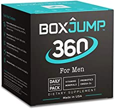 BoxJump 360 for Men Daily Nutrition Packs with Vitamins, Minerals, Omega-3s and Probiotics (30-Day Supply, 30 Count)