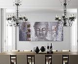 Cuadro decorativo moderno para sala recámara o comedor, Buda gris