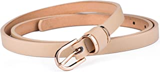 Set of Women's Skinny Leather Belt Solid Color Waist or Hips Ornament 10 Sizes …