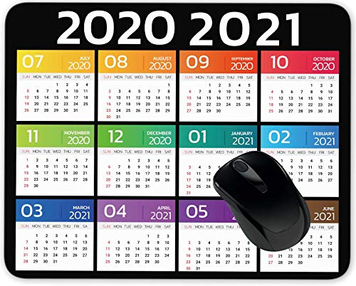 2020 2021 Calendar Half Year Mouse Pad Gaming Mouse Pad Mousepad Nonslip Rubber Backing
