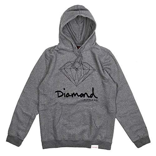 Diamond Supply Co. OG Sign Core Hoodie Gunmetal, Grau Small