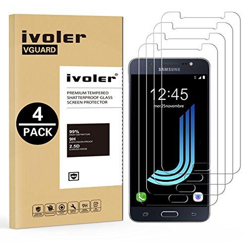 iVoler [4 Pack] Vetro Temperato Compatibile con Samsung Galaxy J5 2016, Pellicola Protettiva, Protezione per Schermo